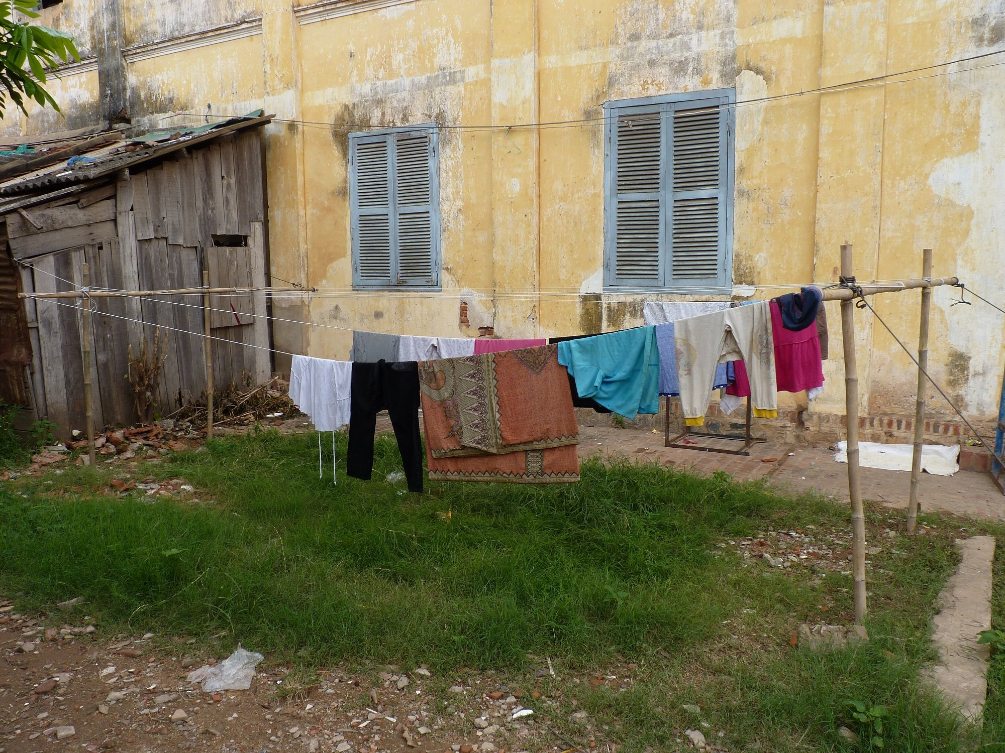 Fabrication d un tendoir linge at icam bodge humanitaire - Construire son sauna exterieur ...